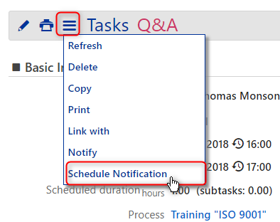 notifications - schedule