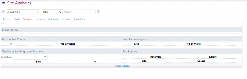 site analytics/comidor low-code bpm platform