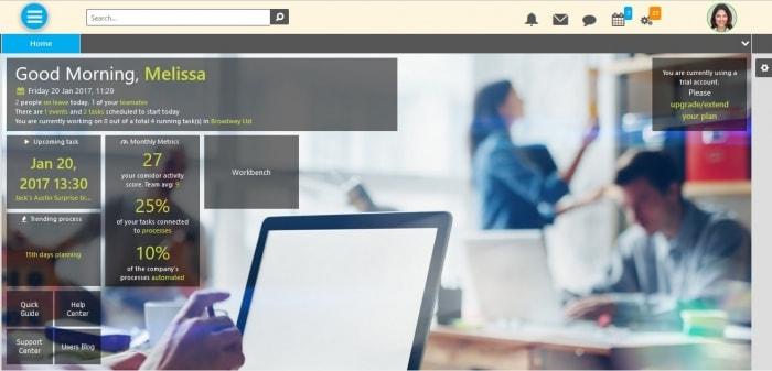 Comidor Desktop Screen