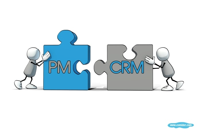 Project management integration with crm