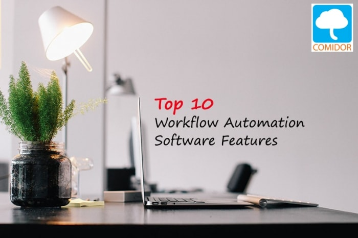 Workflow automation software features