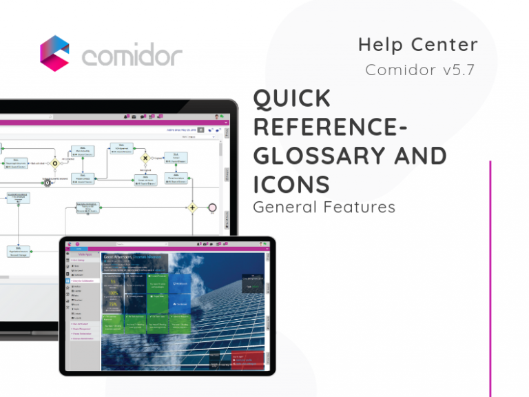 Quick Reference - GLossary and Icons| Comidor Low-Code BPM Platform