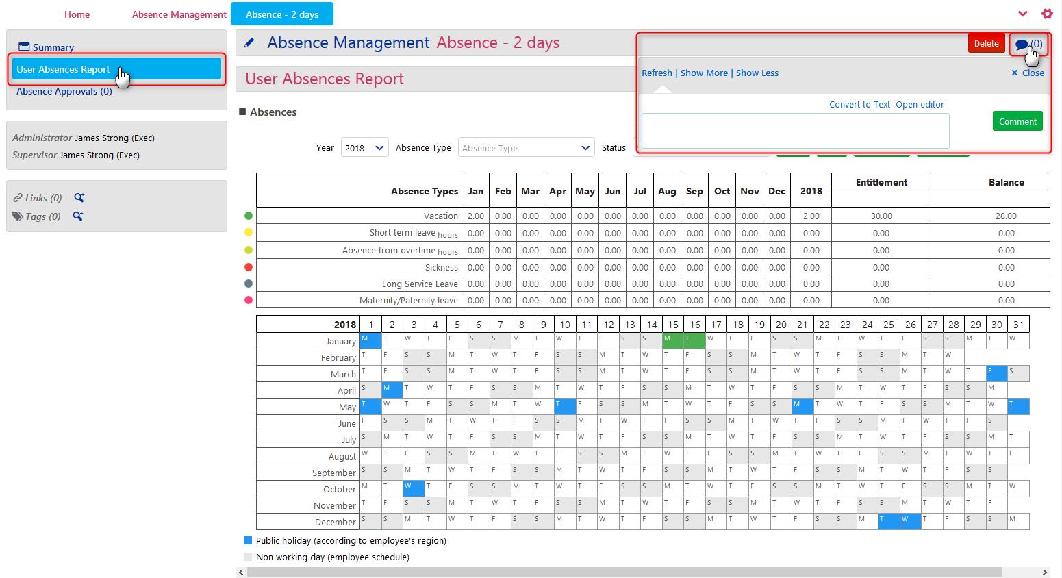 Absence Management - Get informed