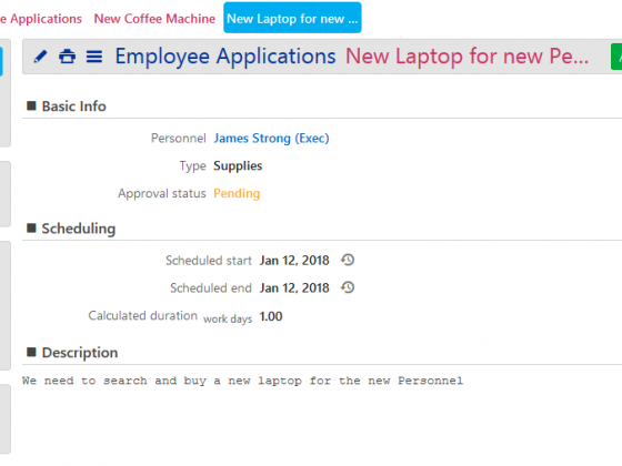 Employee Applications-View
