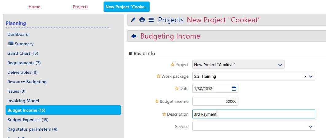 Budget Income -1