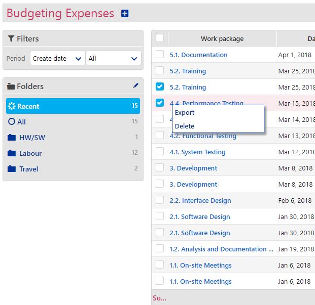 Budget Expenses - 2