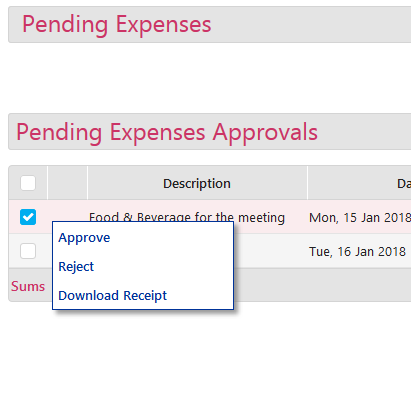 Pending Expenses - 3