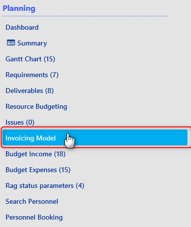 Project Performance - Invoicing