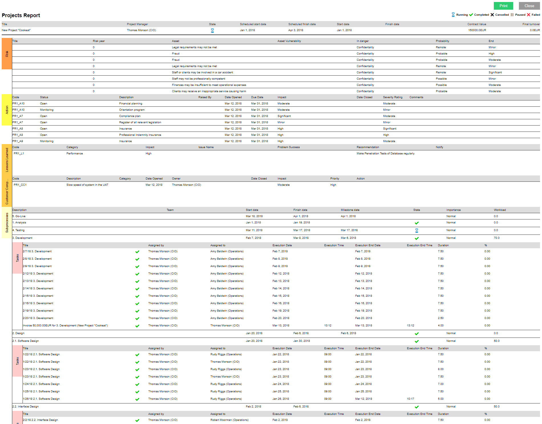 Projects Reports and Analytics (Resource Availability Report) - report 3