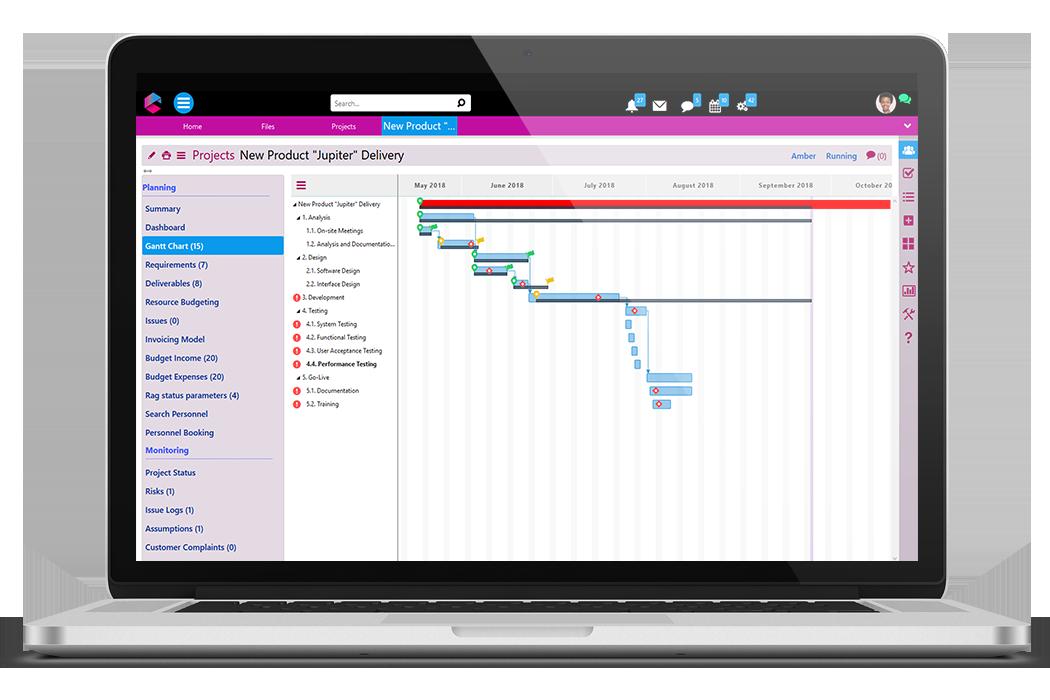 Gantt Chart | Business Project Management | BPM Platform | Comidor