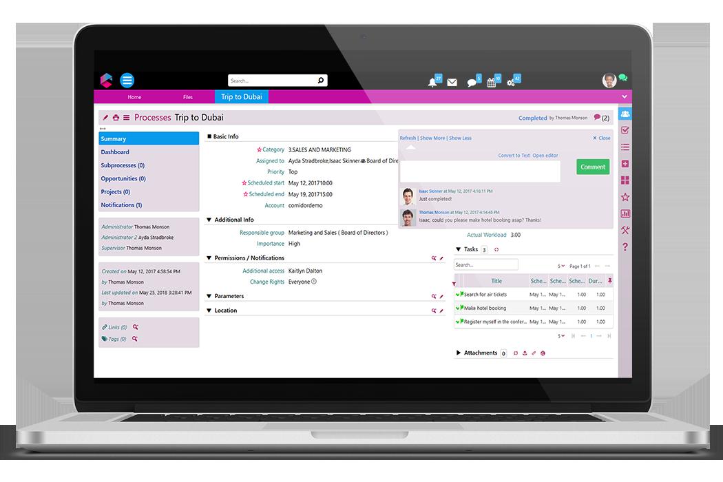 Process Management | Business Process Management Software | BPM Platform | Comidor