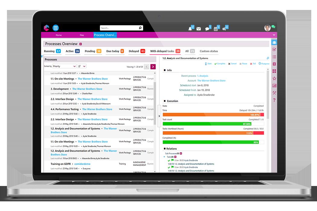 Process Overview | Business Process Management Software | BPM Platform | Comidor