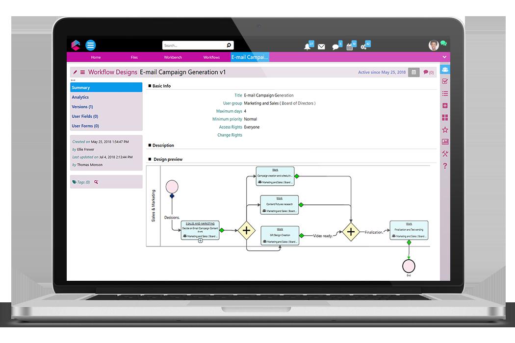 Workflow Designer | Business Process Management Software | BPM Platform | Comidor