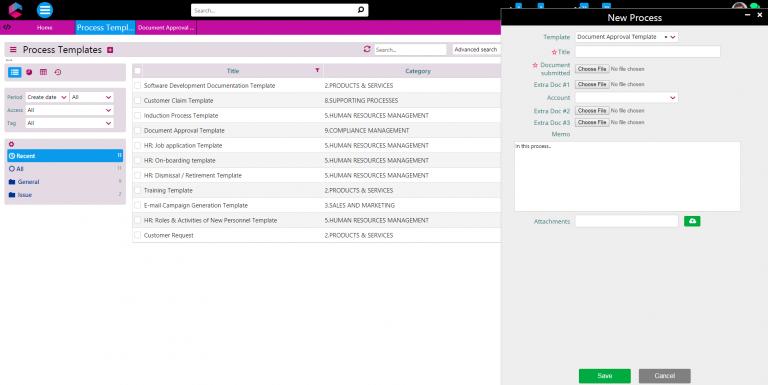 process templates | business processes | comidor