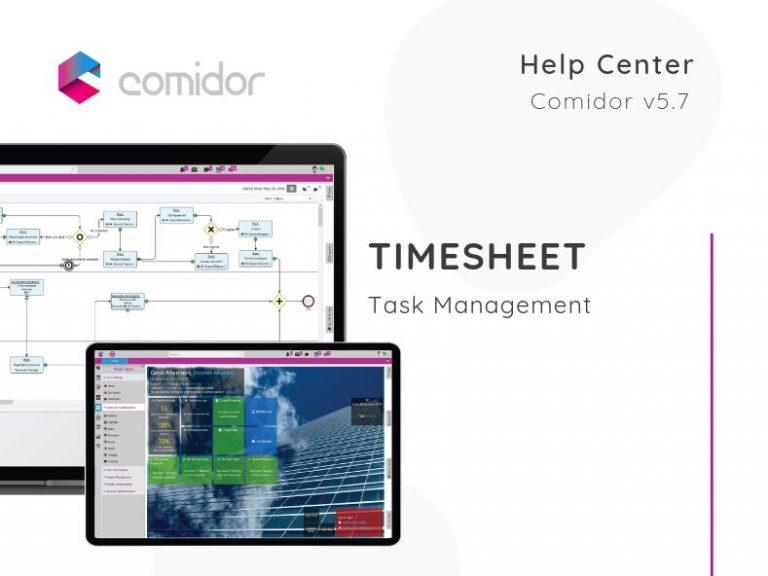Timesheet | Task Management | Comidor Low-Code BPM