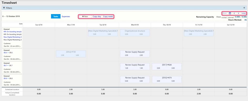 Timesheet Calendar   Comidor Digital Automation Platform