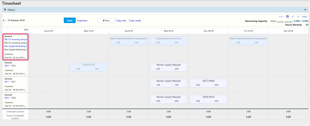 timesheet calendar process  Comidor Digital Automation Platform