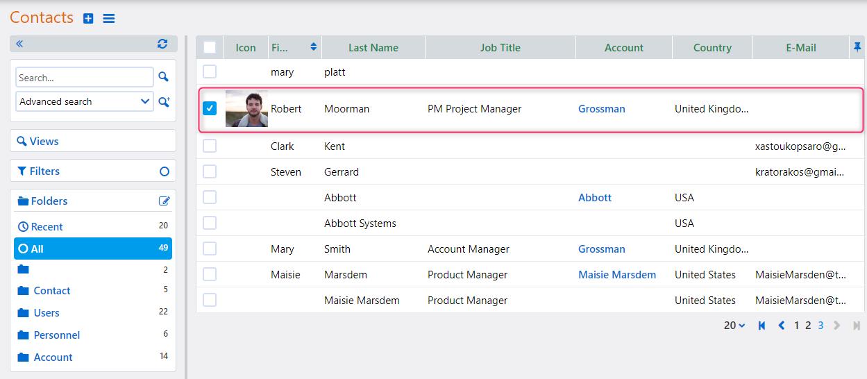 edit a contact | Comidor Platform