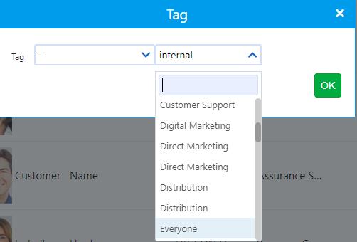 tag a contact | Comidor Platform
