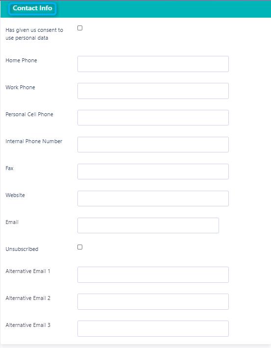 Contact info Contact form v.6| Comidor Platform