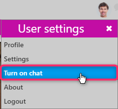 user settings/ Comidor Digital Automation Platform