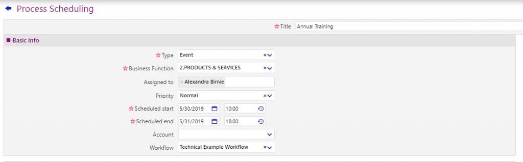 Process Scheduling | Comidor Low-Code BPM