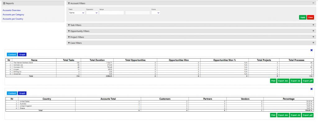 tasks and crm/comidor low-code bpm platform
