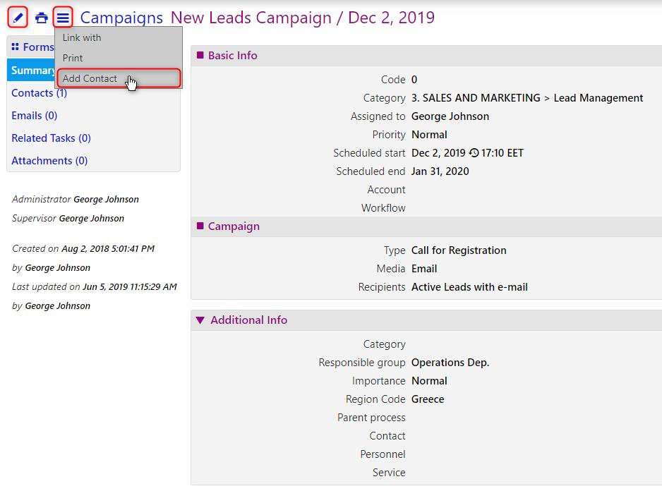 campaign templates/comidor low-code bpm platform