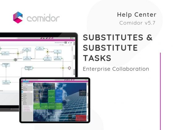 Substitutes Tasks | Enterprise Collaboration | Comidor Low-Code BPM