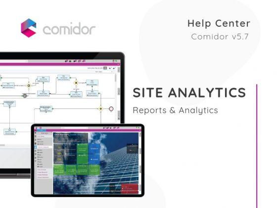Site Analytics | Reports & Analytics | Comidor Low-Code BPM
