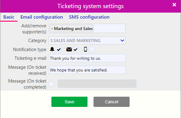 Set up your Customer Support email / Comidor Digital Automation Platform