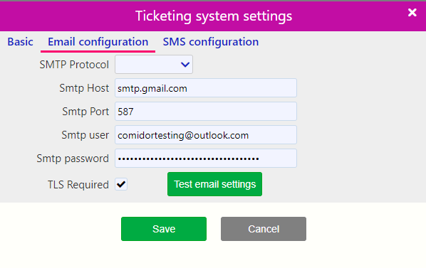 Ticketing Email / Comidor Digital Automation Platform