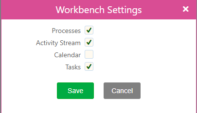 Workbench Settings | Comidor Platform
