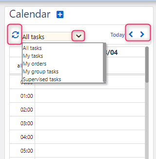 calendar on workbench | Comidor Platform