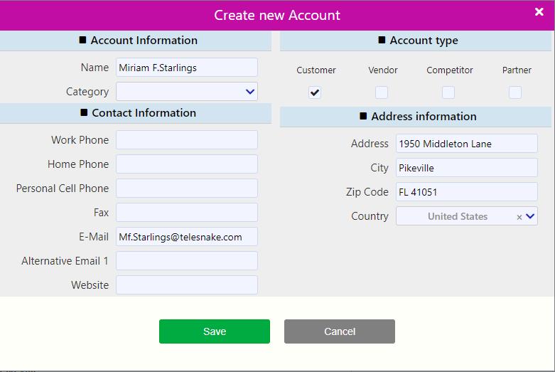 create new account / Comidor Digital Automation Platform