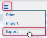 export a contact | Comidor Platform