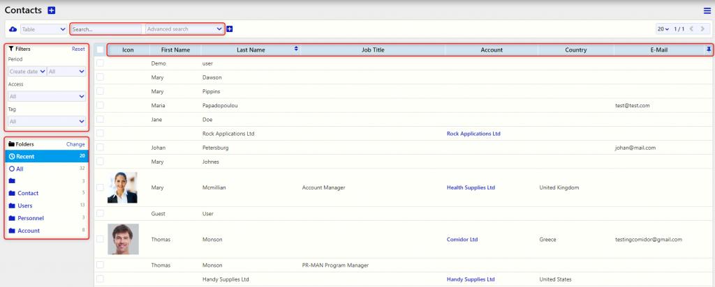 group of contacts/Comidor Digital Automation Platform