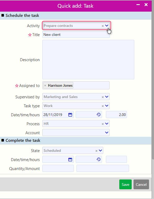 quick add task management / Comidor Digital Automation Platform