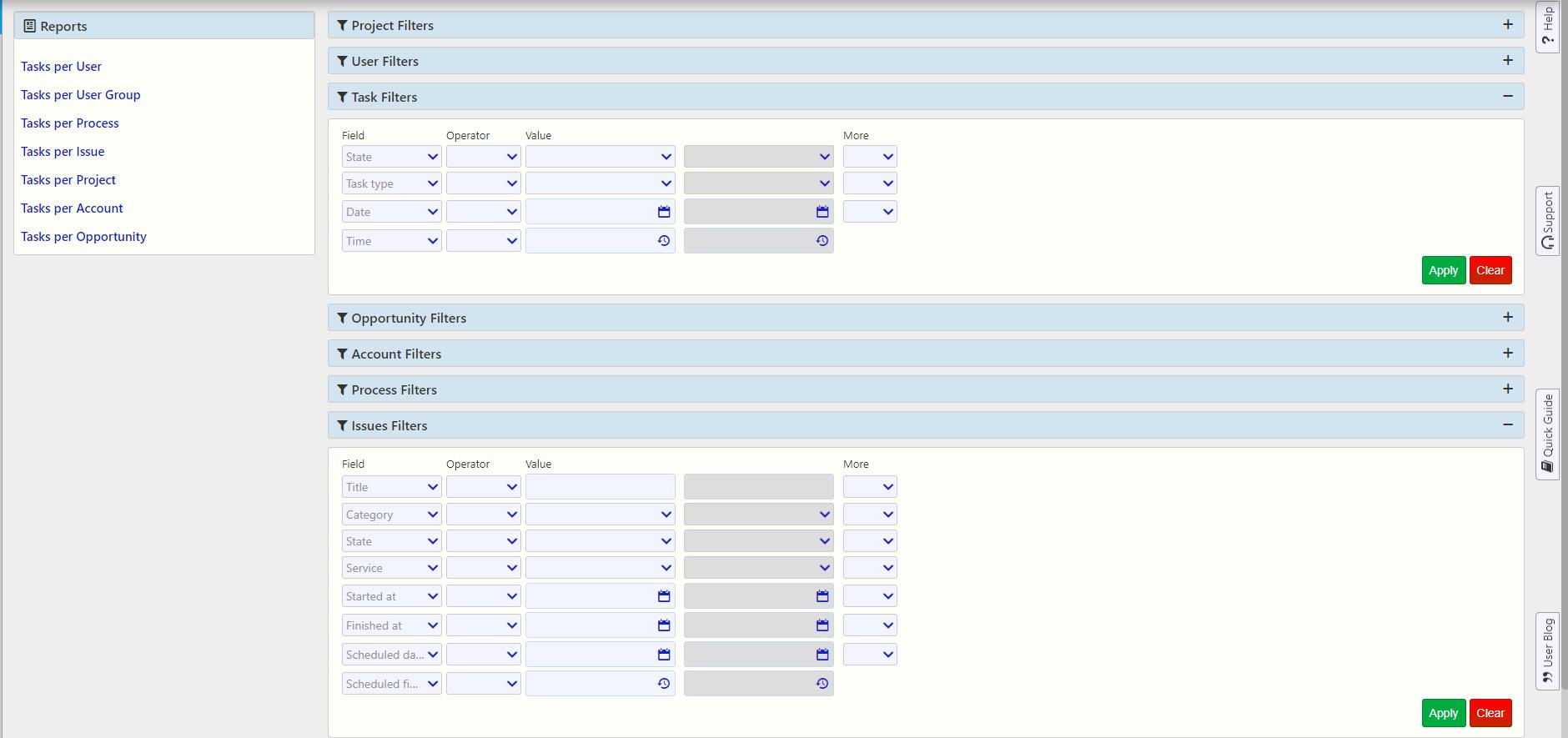 import tasks Task management / Comidor Digital Automation Platform