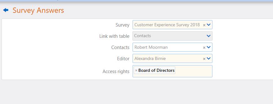 survey of answers | Comidor Platform