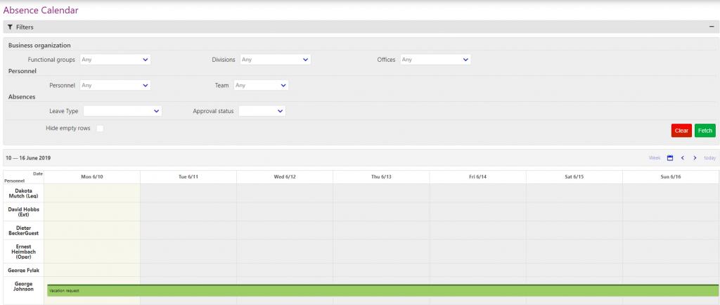 absence management/comidor low-code bpm platform
