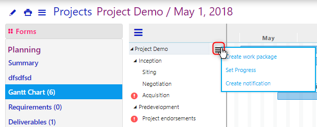 project scheduling/comidor low-code bpm platform