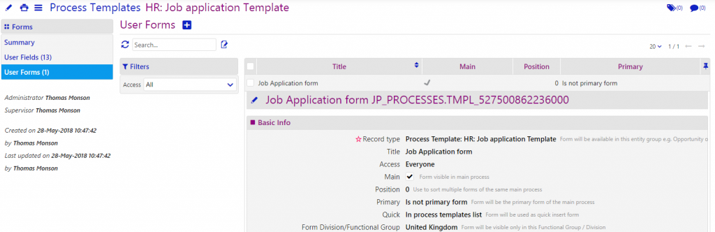 process templates/comidor low-code bpm platform