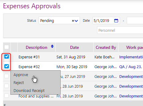 Tasks and Expenses Approval/comidor low-code bpm platform