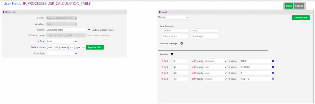 User fields and forms| comidor low-code bpm platform