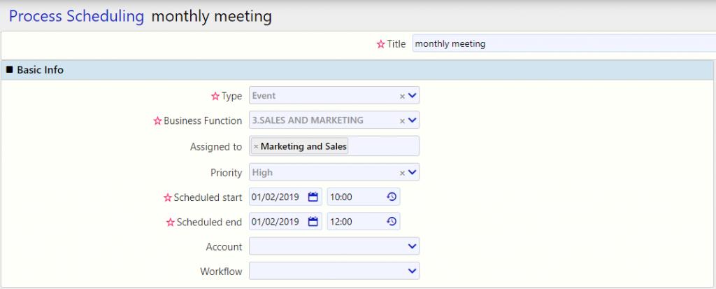 Process Scheduling |Comidor Digital Automation Platform