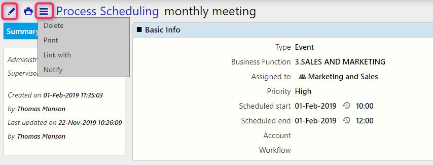 edit Process Scheduling | Comidor Digital Automation Platform