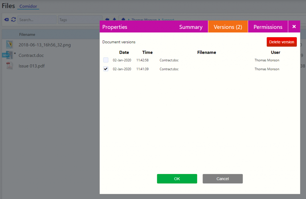 Upload Files | Comidor Digital Automation Platform