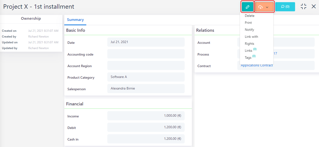 Income | Comidor Platform