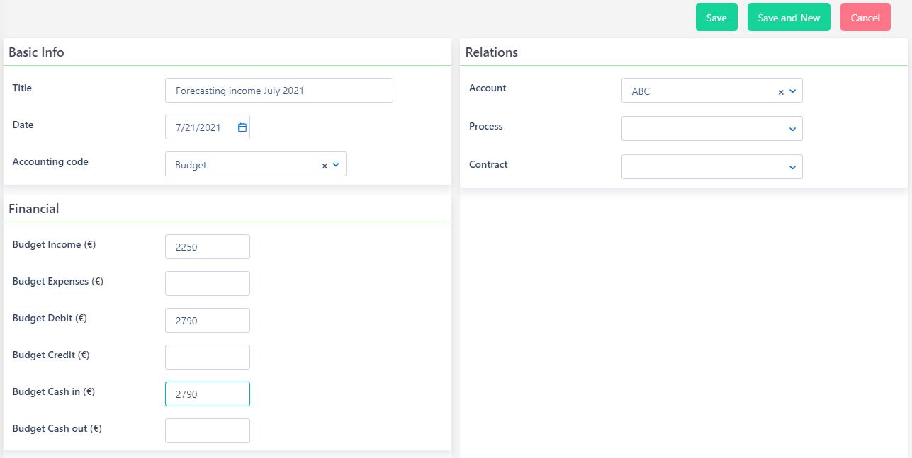 Forecasting | Comidor Platform